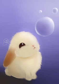 Bunny Bubble by Lenalee-lee