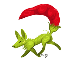 Chili pepper fox by Kittengoo