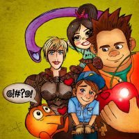 Wreck-It Ralph And Friends by FrauV8