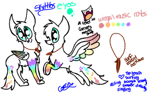 My Fursona-Skittles-Ref by Princess-Corrine
