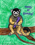 Monkey First Birthday by Guiled-Dragon