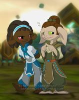 Tippa and Gorr by evilsherbear