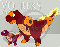Fake Pokemon - Volreks by Prinny-Dood