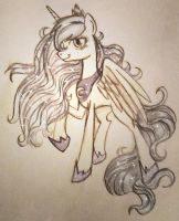 luna traditional by xWhiteDreamsx