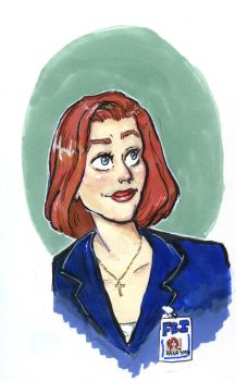 Dana Scully (X files) by TheSpaceBabe
