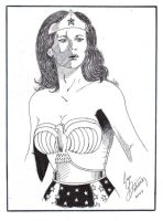WONDER WOMAN uncolored by jimg1972