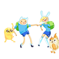 Adventure time with Finn and Fionna by PuttyPrincess123