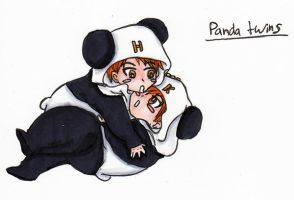 Panda Twins by FullmetalApollo