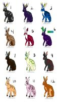 Jackalope Adoptables-CLOSED by Abellia