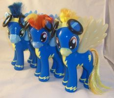 Fashion Style Wonderbolts with Rainbow Dash by Gryphyn-Bloodheart