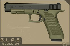 G.L.A.S. Enhanced Glock 34 by cityofthesouth