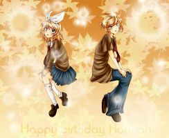 Rin and Len Kagamine: Gift by dreampaw