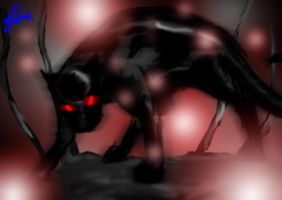 RED NIGHTMARE Panther by MantarWolf