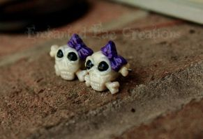 Skull Earrings by FairyMoonCreations