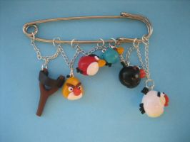 Angry Birds Kilt Pin by ClayMyDay