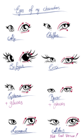 Eyes of my characters by Star-Reacher