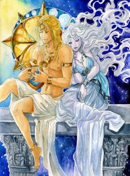 - Apollo and Artemis - by ooneithoo