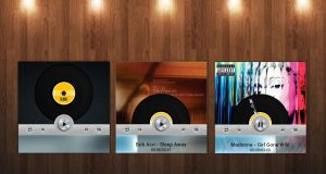 Modern Vinyl Player (with animation) for xwidget by Jimking