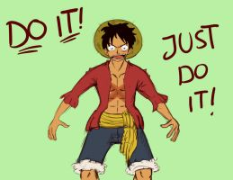 Luffy, Just do IT! by Pimander1446