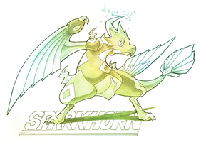 Sparkhorn: Hawk of the Storms by silverava