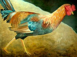 Running Rooster by scott-plaster