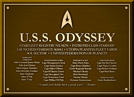 USS Odyssey Dedication Plaque by sumghai