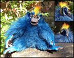 Gnarll Monkey OOAK with horn detail by Gnarll