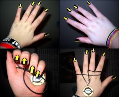 Soul Eater: Medusa Nails. by HeavenlyWitchx
