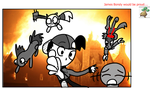 Sketchy Johto nuzlocke Gold explosion snap by Charlemagne1