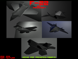 F-22 Mini Papercraft by Niggayo