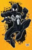 BLACK SPIDEY by JUANPUIS