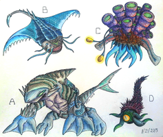 Concept of Aquatic Predator Creatures 1 by Unialien