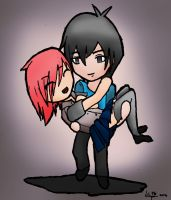 Chibi drawing: Love, hehe. by ineedpractice