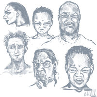 6 Portraits from Reference by kvernikovskiy