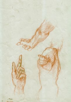 hands sketches by Mariam-Omar