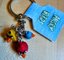 angry birds keychain by ugnip