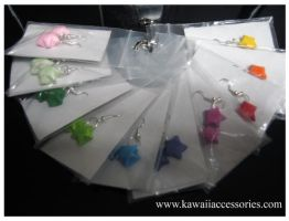 Lucky Star Earrings by KAWAIIACCESSORIES