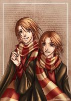 - weasley twins - by aramaki