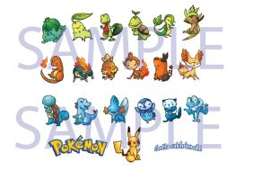 Pokemon Stickers Sample by ZLynn