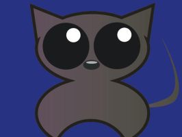 cat with big eyes by Angie-Lucena