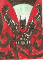 Batman Beyond sketch card by aisu-kaminari