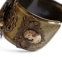 Steampunk Watch Cuff - Floral2 by Aranwen