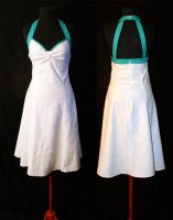 White Retro Sundress by TransparentDream