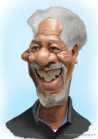 Morgan freeman Caricature by Steveroberts