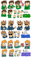 Eddsworld: The Movie - Character Sketches by ENEKOcartoons