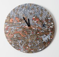 Mythical Wall Clock 1 by Hellanim
