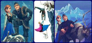 Kristoff and Anna collage ~ from Disney's 'Frozen' by DenaTook