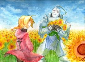 FMA: Sunflower Fields by imaginary-ang3l