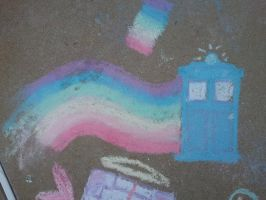 DW: Nyan TARDIS by Whimsical-Realist