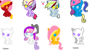 Shipping Adoptables 3 *OPEN* *PRICES LOWERED* by XxBlue-ThunderxX